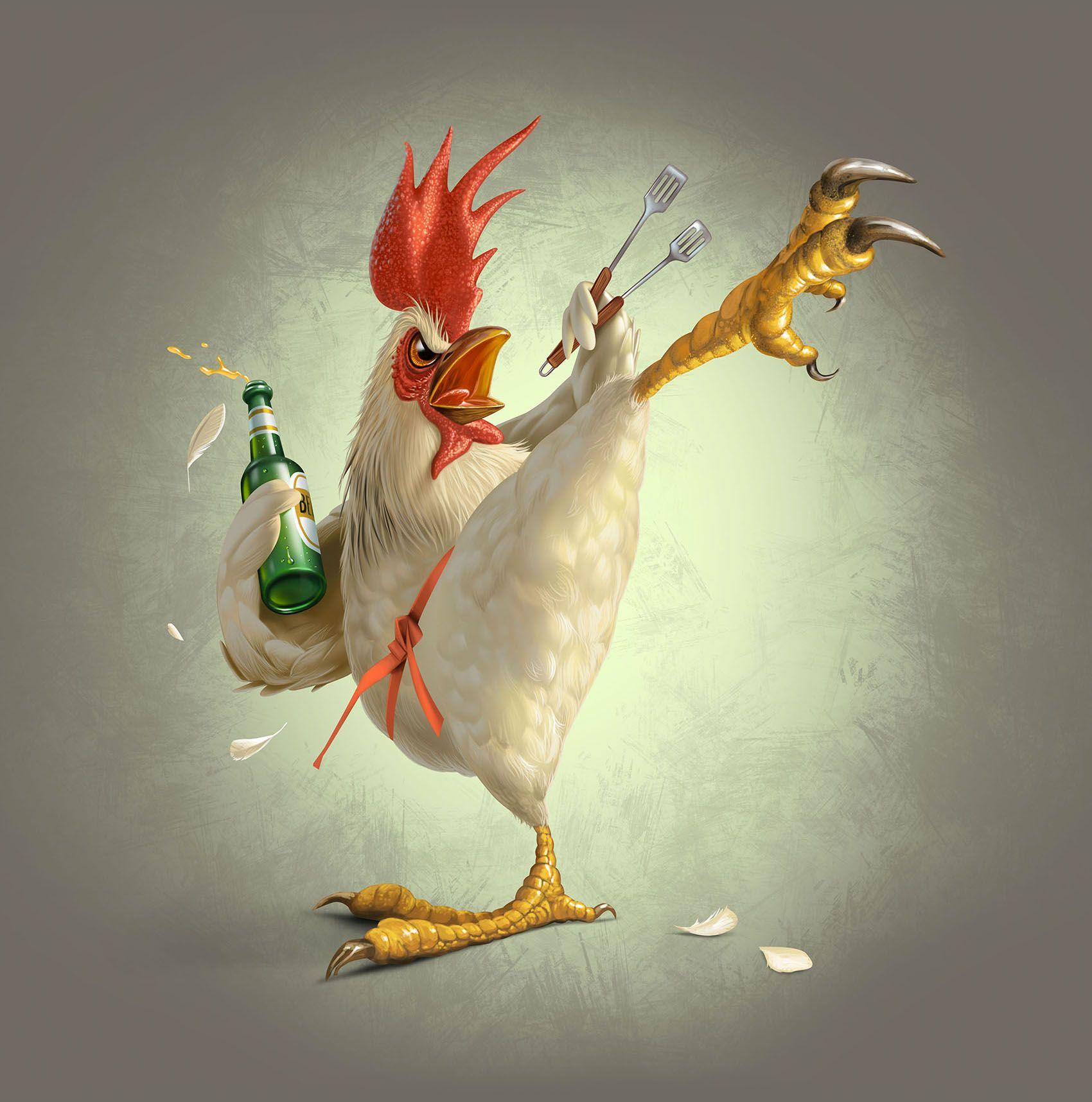Открытки, смешные курицы рисунок
