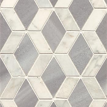 11 3 4x9 3 8 Yeni Pattern Honed Aecrocyenianahes Anamite Hesperia 9 5 X11 75 6 Tiles White Marble Mosaic Edwards Homes