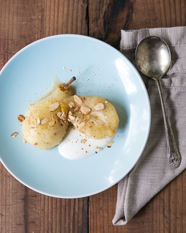 Roasted Pears with Five-Spice and Greek Yogurt