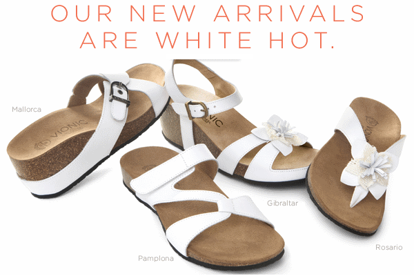 Fresh new Vionic sandals that feature