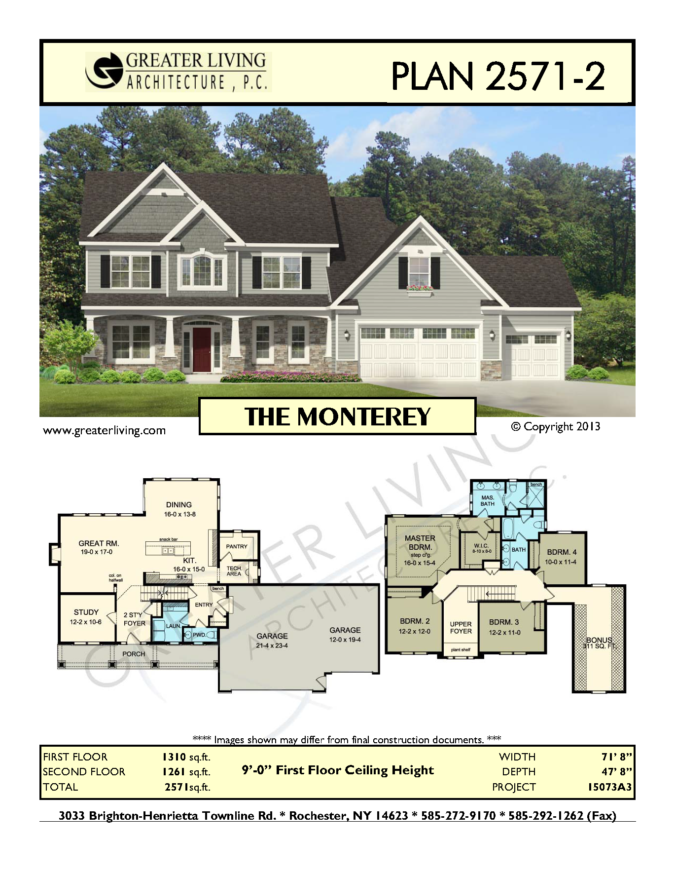 Plan 2571-2: THE MONTEREY