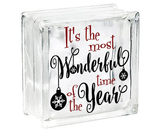 Christmas glass block decal vinyl sticker come let us adore him wise men diy christmas decoration tile or plate decal holiday decoration