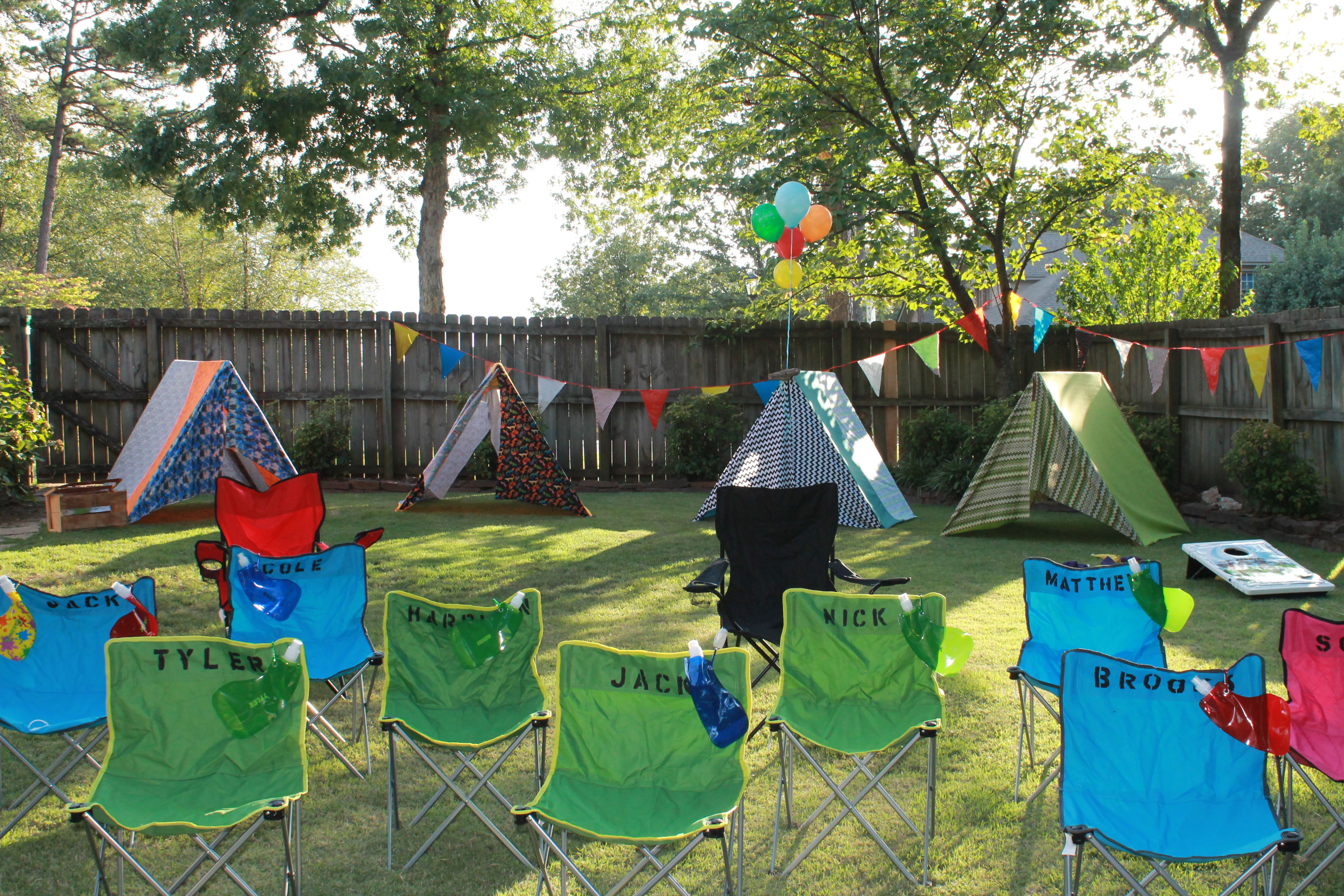 Camp Out Birthday Party Backyard Site By Me Queen Bee