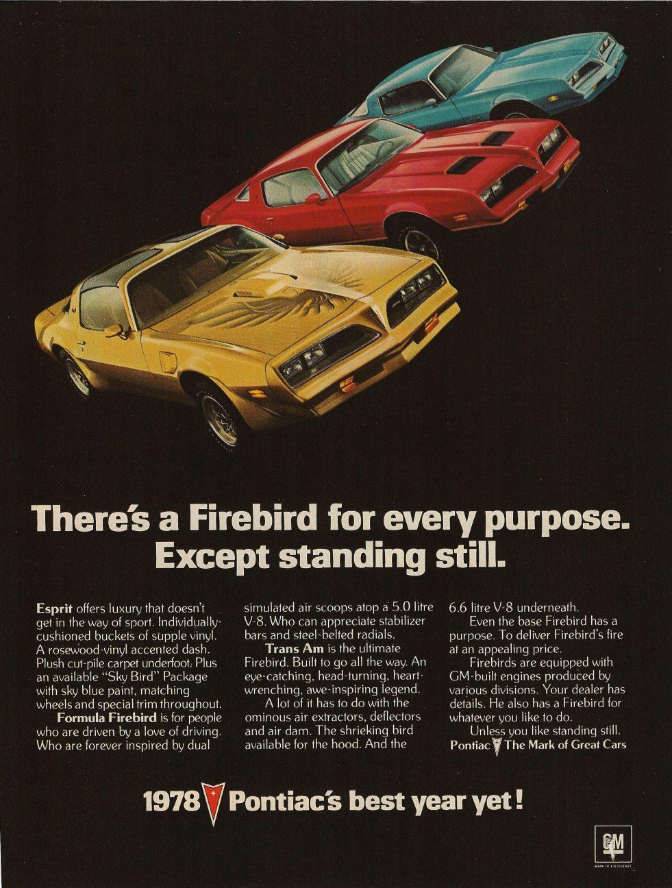 1978 Pontiac Firebirds Espirit Formula Trans Am Classic Cars Muscle Trans Am Pontiac Firebird