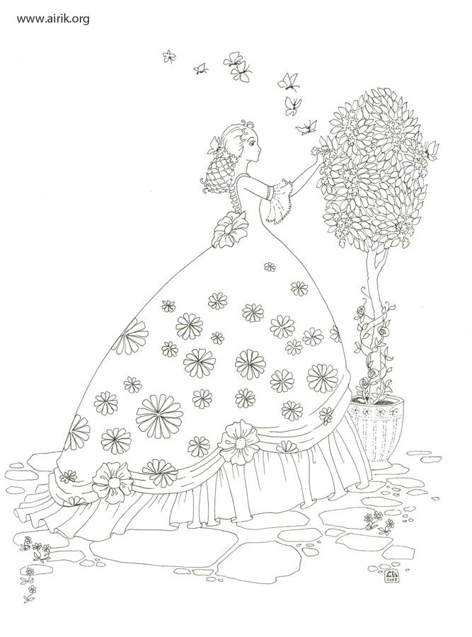 by great illustrator and storyteller Enna Airik | Coloring Book New ...