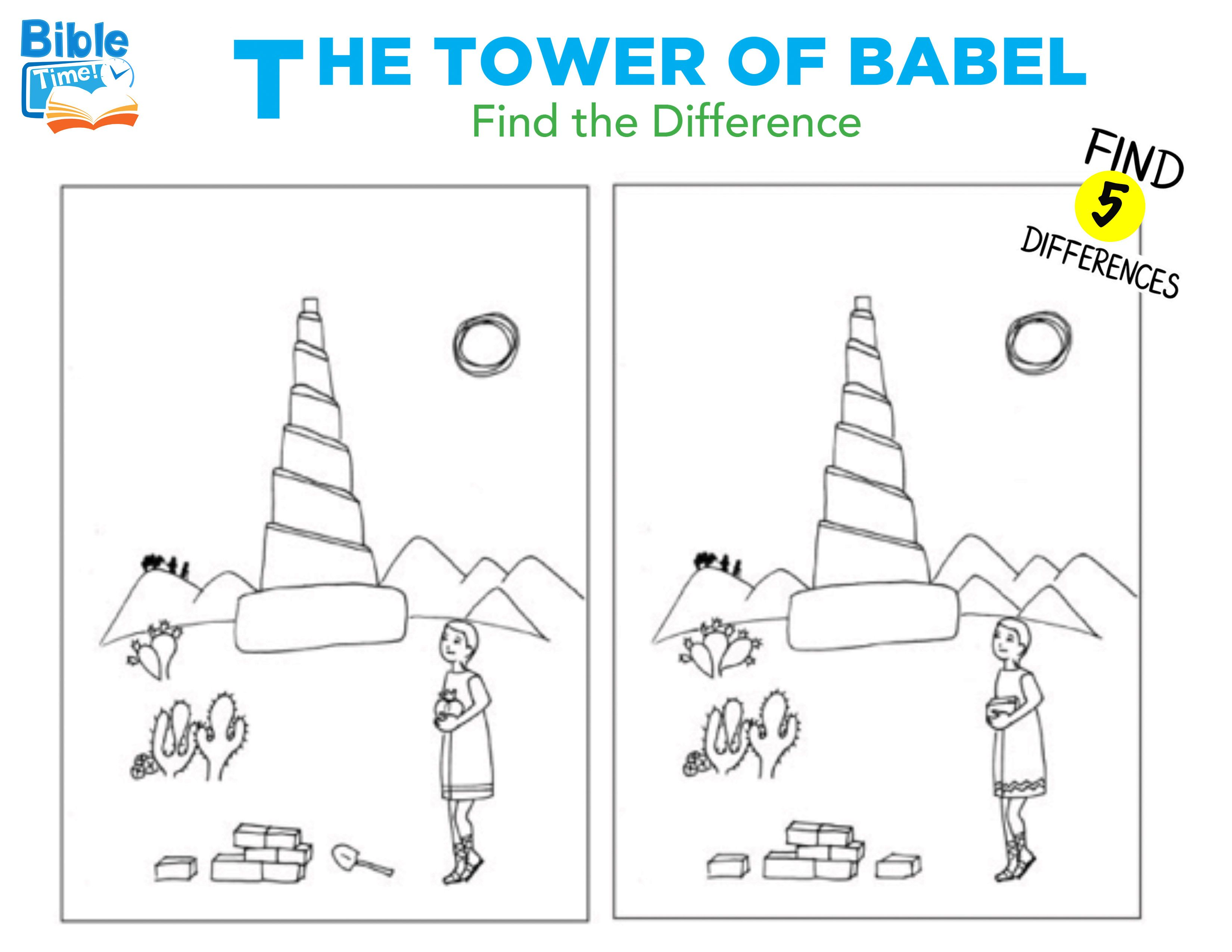 Free Preschool Tower Of Babel Activities Kids Bible Printable Children S Church Lessons Child Bible Lessons Bible Lessons For Kids Bible Stories For Kids