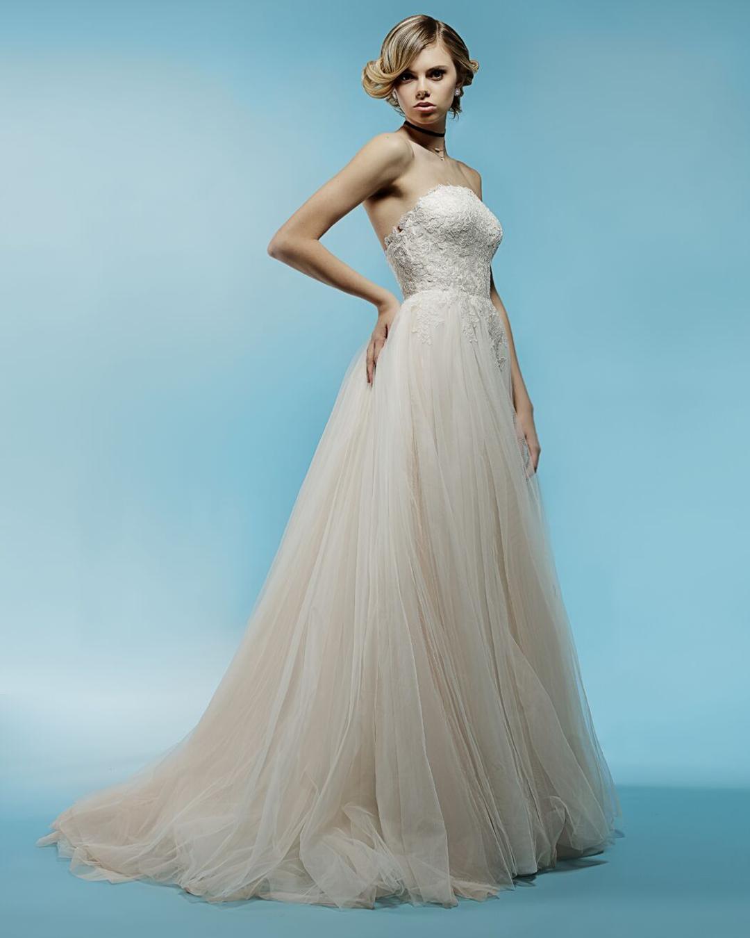 Aurelie   Spring 2018 collection   blush wedding dress   Ivy & Aster ...
