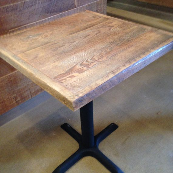 Reclaimed Wood White Weathered Table Top Bar Table Top Pub - Custom restaurant table tops