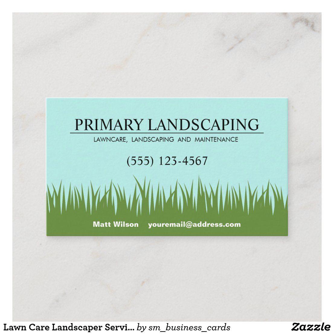 Lawn Care Landscaper Service Grass Business Card Zazzle