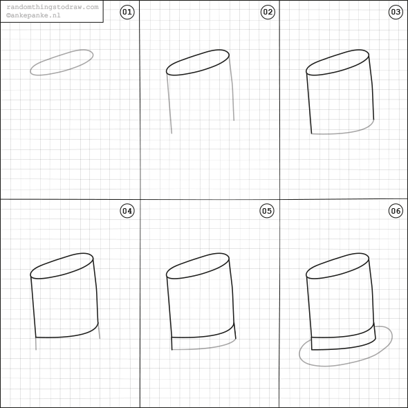 How to draw a top hat. | How to draw for kids | Pinterest ...