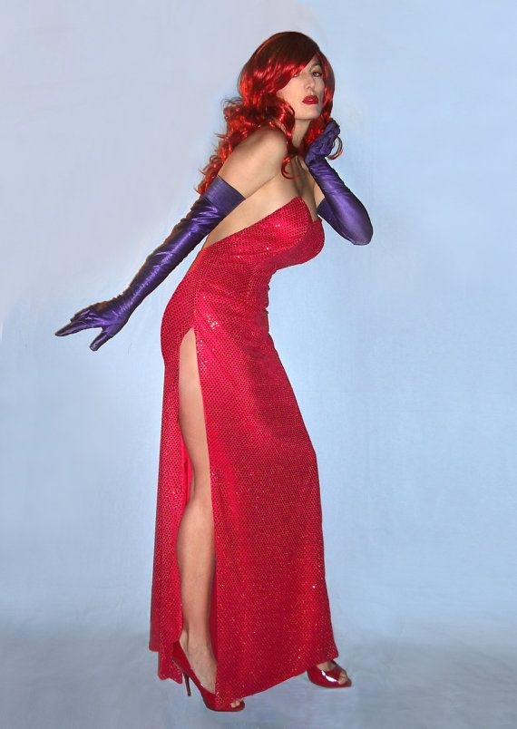 Sexy Jessica Rabbit Costume Gown by SavillaCreations on Etsy, $199.00 -  Maybe. It is rather expensive.