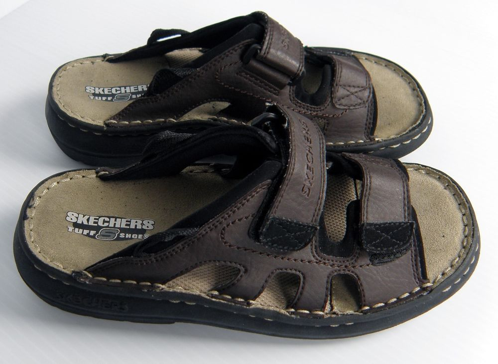 a7f1f90fa30e Skechers Tuff Shoes Big Boys Comfort Fit Leather Sandals Size 5 Youth   Skechers  Sandals