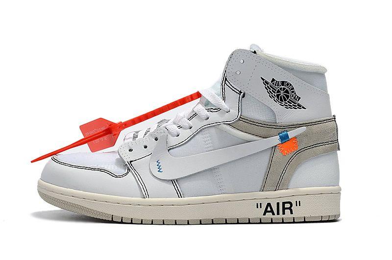 2018 OFF-WHITE x Air Jordan 1 Men Basketball Shoes AQ0818-100  9a32333aeae2
