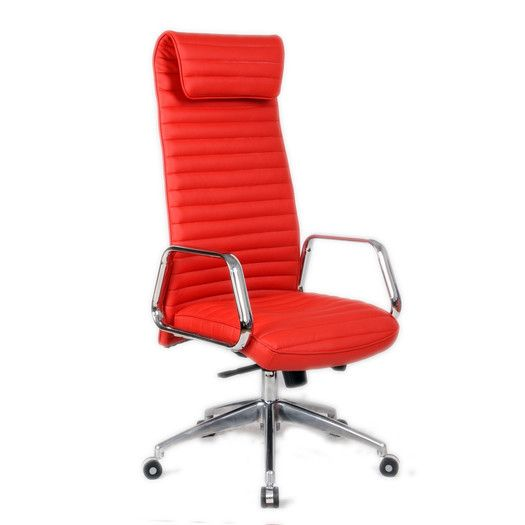 Fine Mod Imports Ox High Back Leather Office Chair With Arms Office Chair High Back Office Chair Red Office Chair