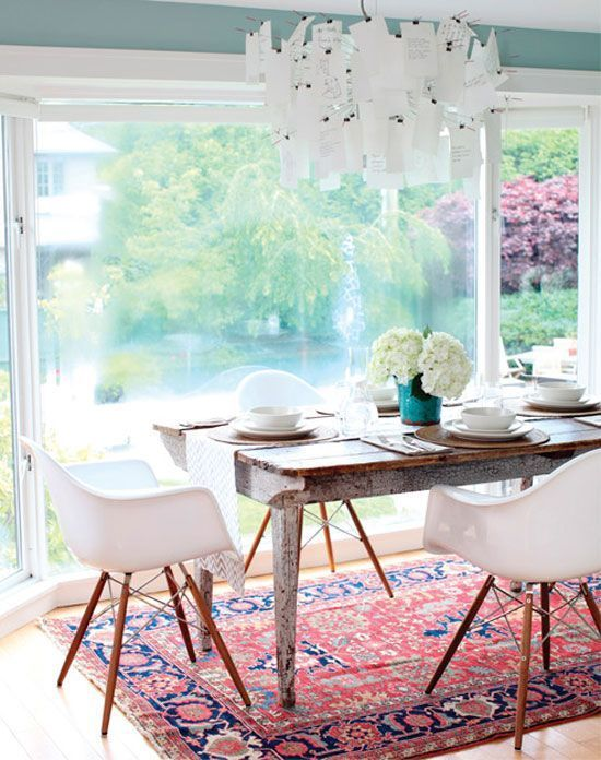 Practically Polished: Style Trend: Oriental Rugs. Eclectic Dining RoomsStyle  ...