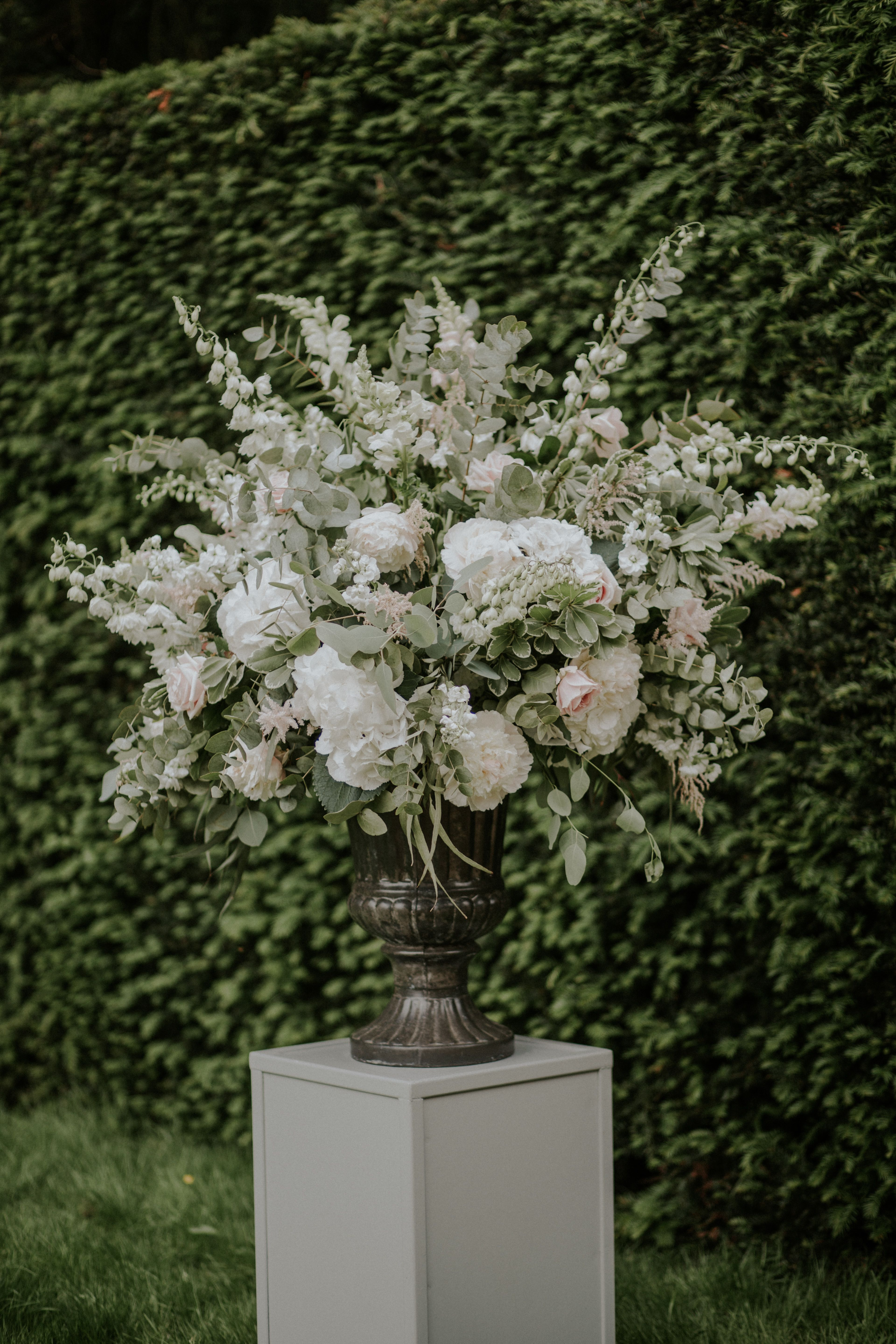 Urn by florist in the forest lola rose photography victoria