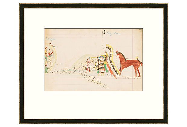 An archival giclée reproduction of an original Native American - ledger form