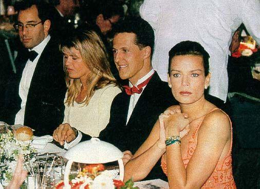 Monaco Gp Gala Dinner 1997 Princess Stephanie With Michael