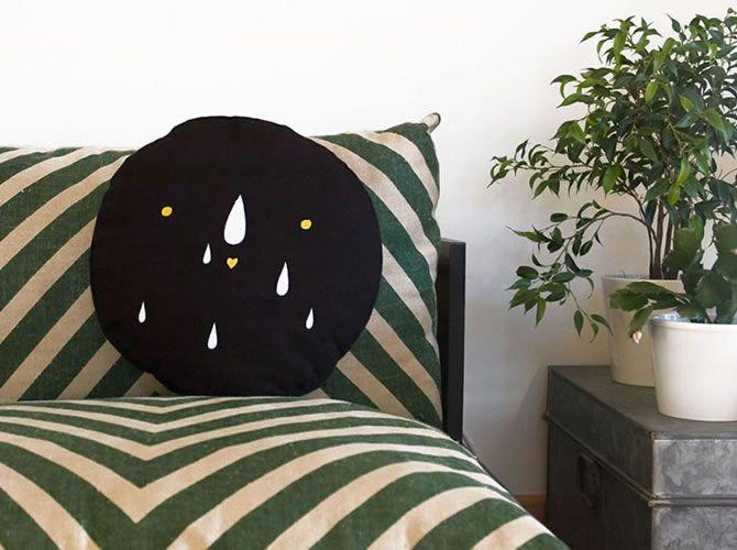nice pillow by Ana Ventura #illustration #handmade