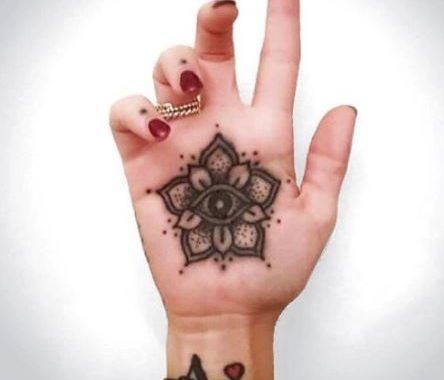 50 Palm Tattoos Designs And Ideas 2017 Hand Palm Tattoos Palm Tattoos Palm Size Tattoos