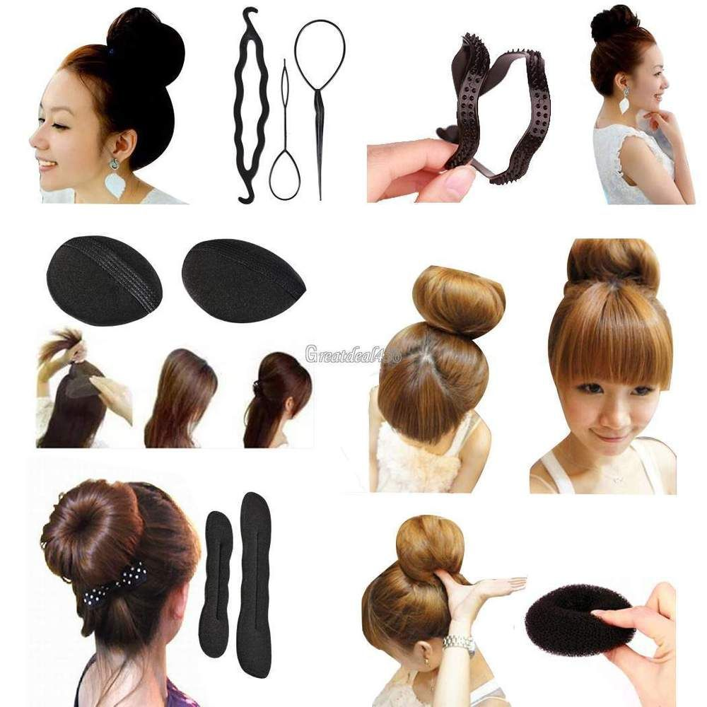 Fashion Hair Twist Estilo Clip Stick Bun Maker Trenza herramienta ...