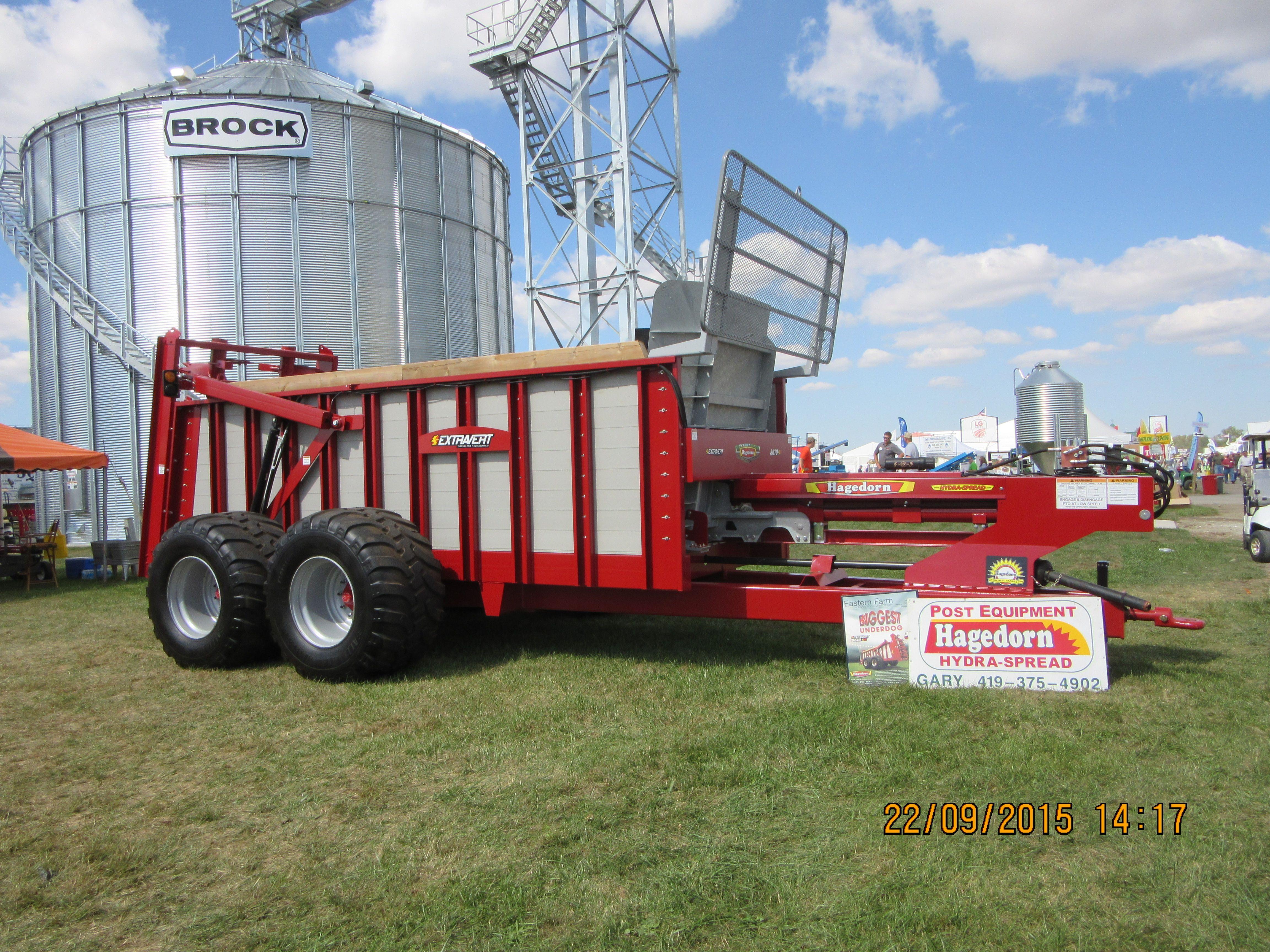 Home Built Manure Spreader : Massive hagedorn manure spreader farm equipment