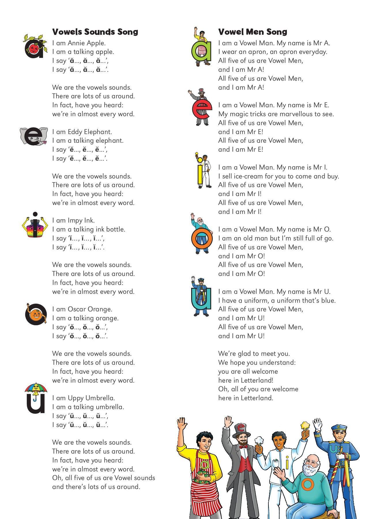 Letterland Alphabet Songs Lyrics Alphabet Songs Phonics Song Phonics Chart [ 1800 x 1273 Pixel ]