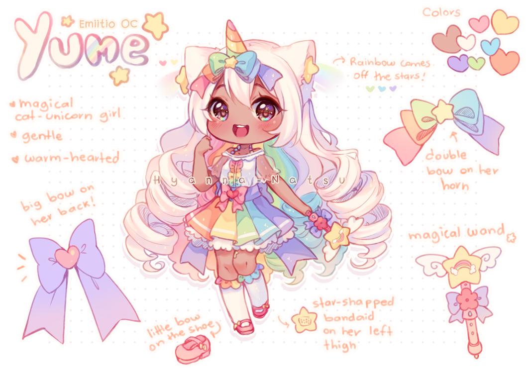 Video Commission Unicorn Rainbow By Hyanna Natsu On Deviantart Anime Wolf Girl Anime Character Design Chibi Unicorn