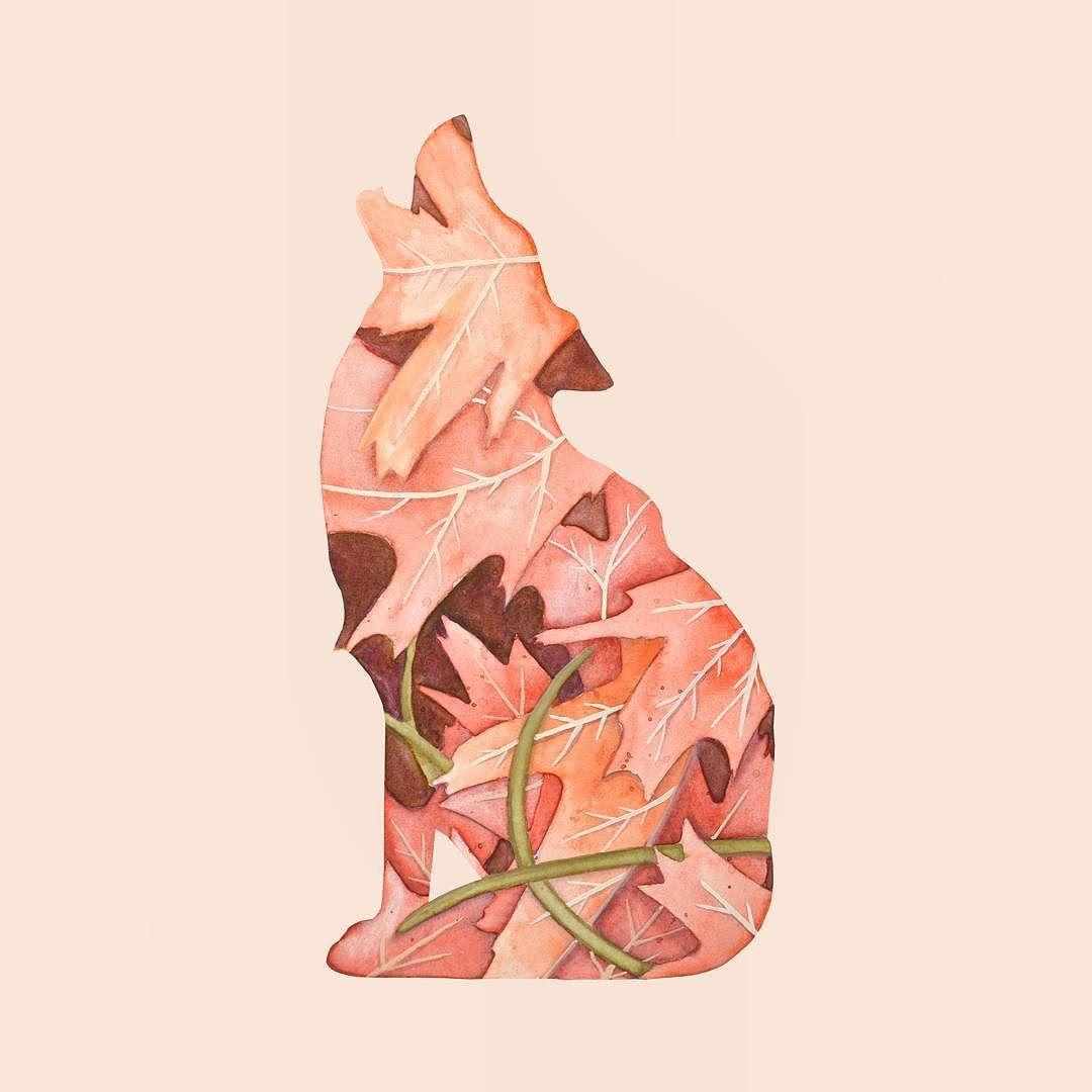 """""""Flora e Fauna: Lobo"""" by @krisefe  Disponível aqui http://ift.tt/2p5PnNX em camiseta quadro almofada e mais #artetododia #movidoapessoasincriveis"""
