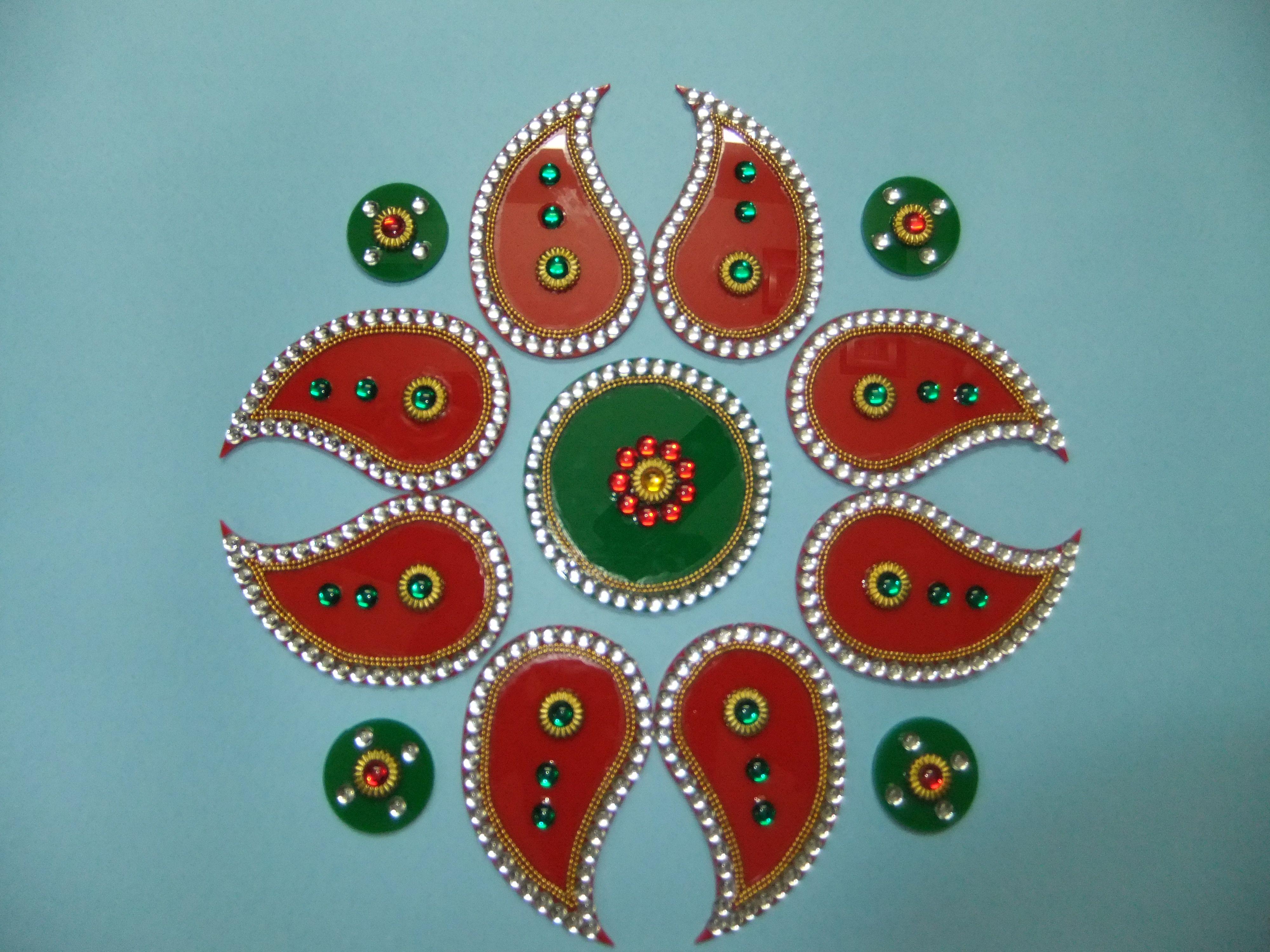 Poster design rangoli - Acrylic Rangoli Designs Patterns For Diwali