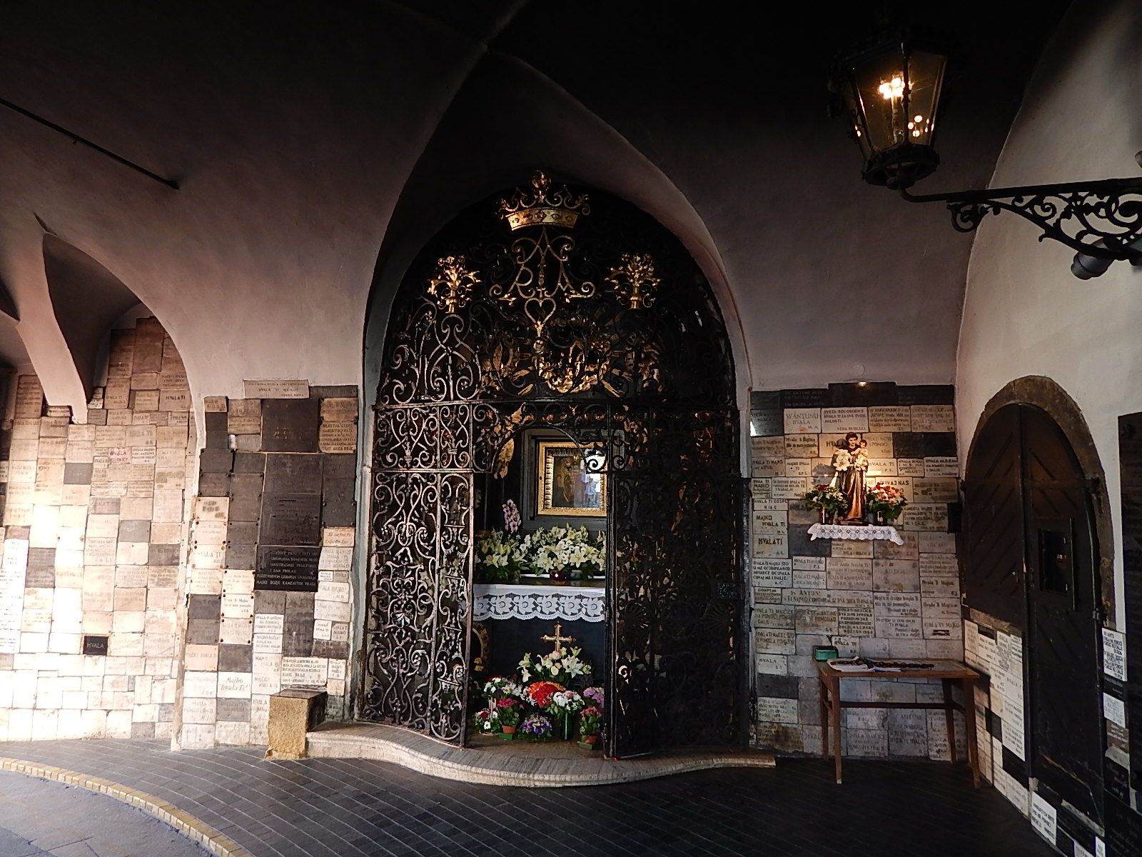 Stone Gate Zagreb Inside A Small Chappel There S A Painting Of Mary Mother Of God Protector Of Zagreb City Zagreb Croatia Croatia Zagreb