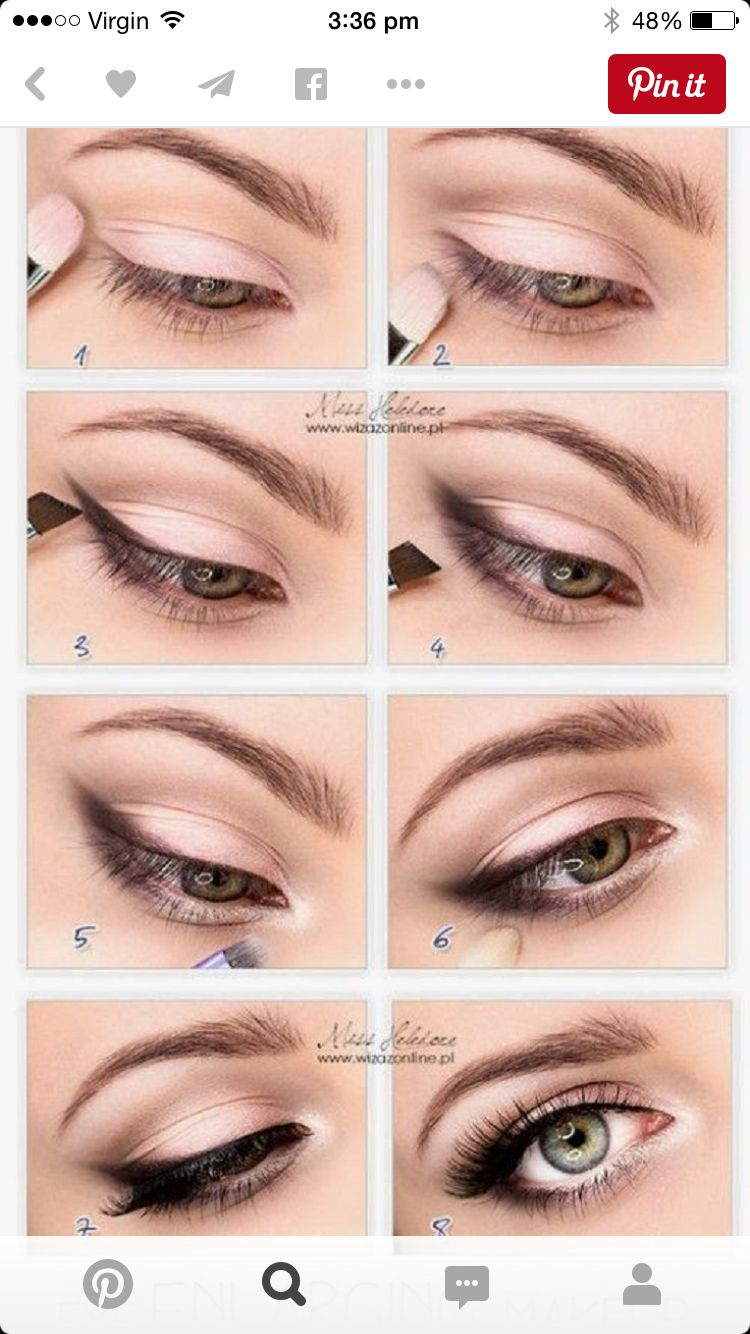 Eyeshadow makeover lvs pinterest eyeshadow makeup and eye easy eye makeup tutorial for blue eyes brown eyes or hazel eyes great for that natural look hooded or smokey look too if you have small eyes baditri Gallery