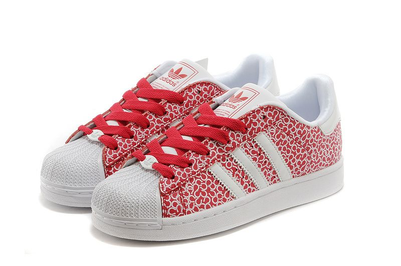brand new e36dc 38294 Adidas Mujer Superstar Ii Spring wild leisure section red and Blanco  graffiti estilo,zapatillas adidas 80s,popular