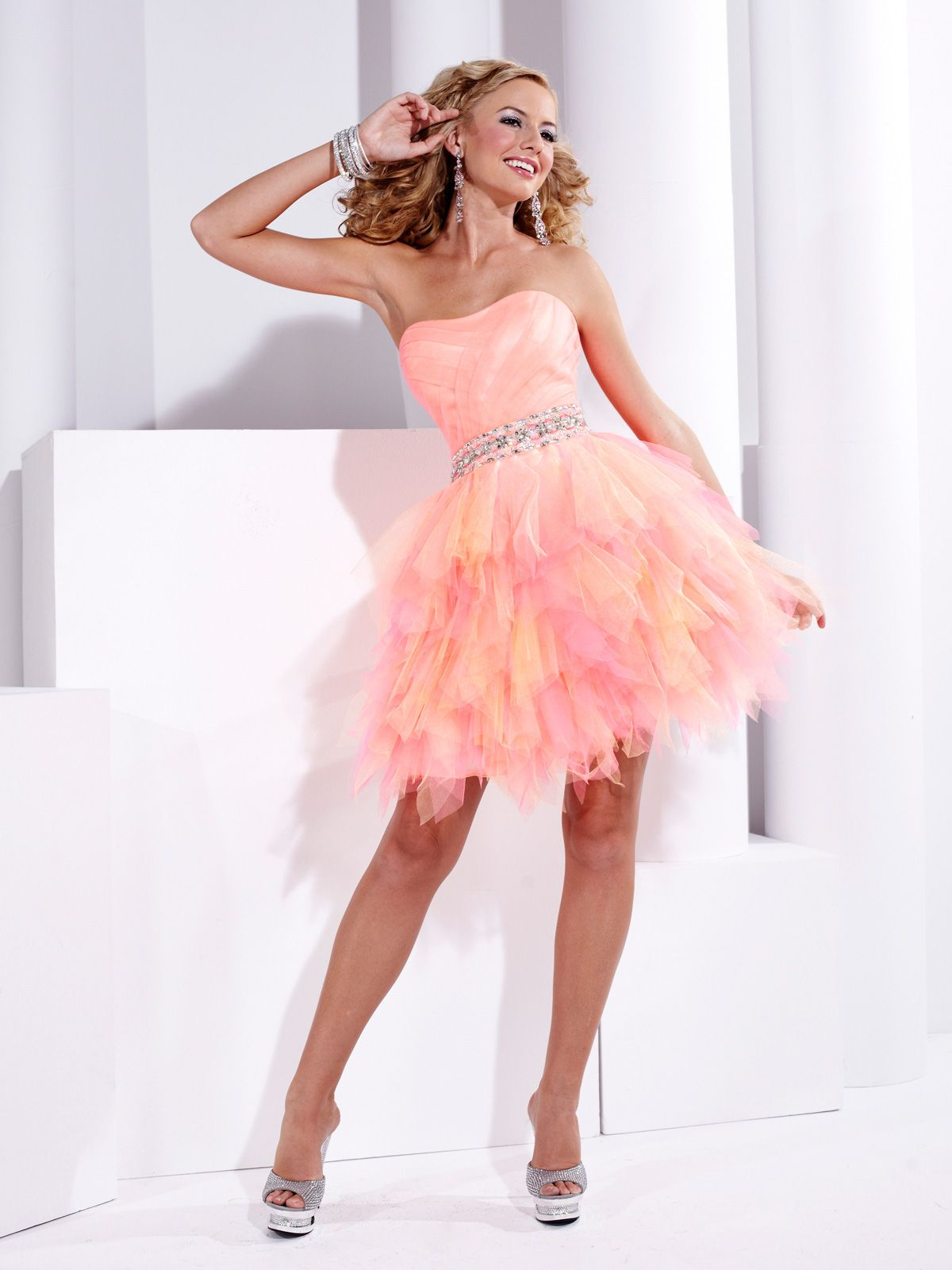 Beautiful Hannah S Prom Dress 27716. This tulle prom dress features ...