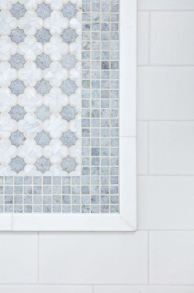 Artistic Tile I This beautiful shower panel combines our \'Arpell ...