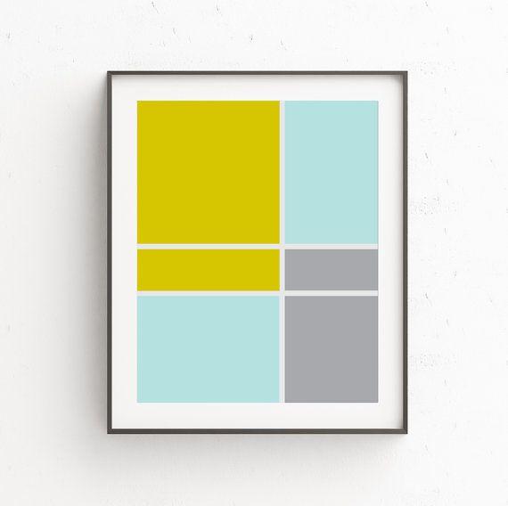 Downloadable Prints, Yellow Gray Decor, Contemporary Wall Art ...