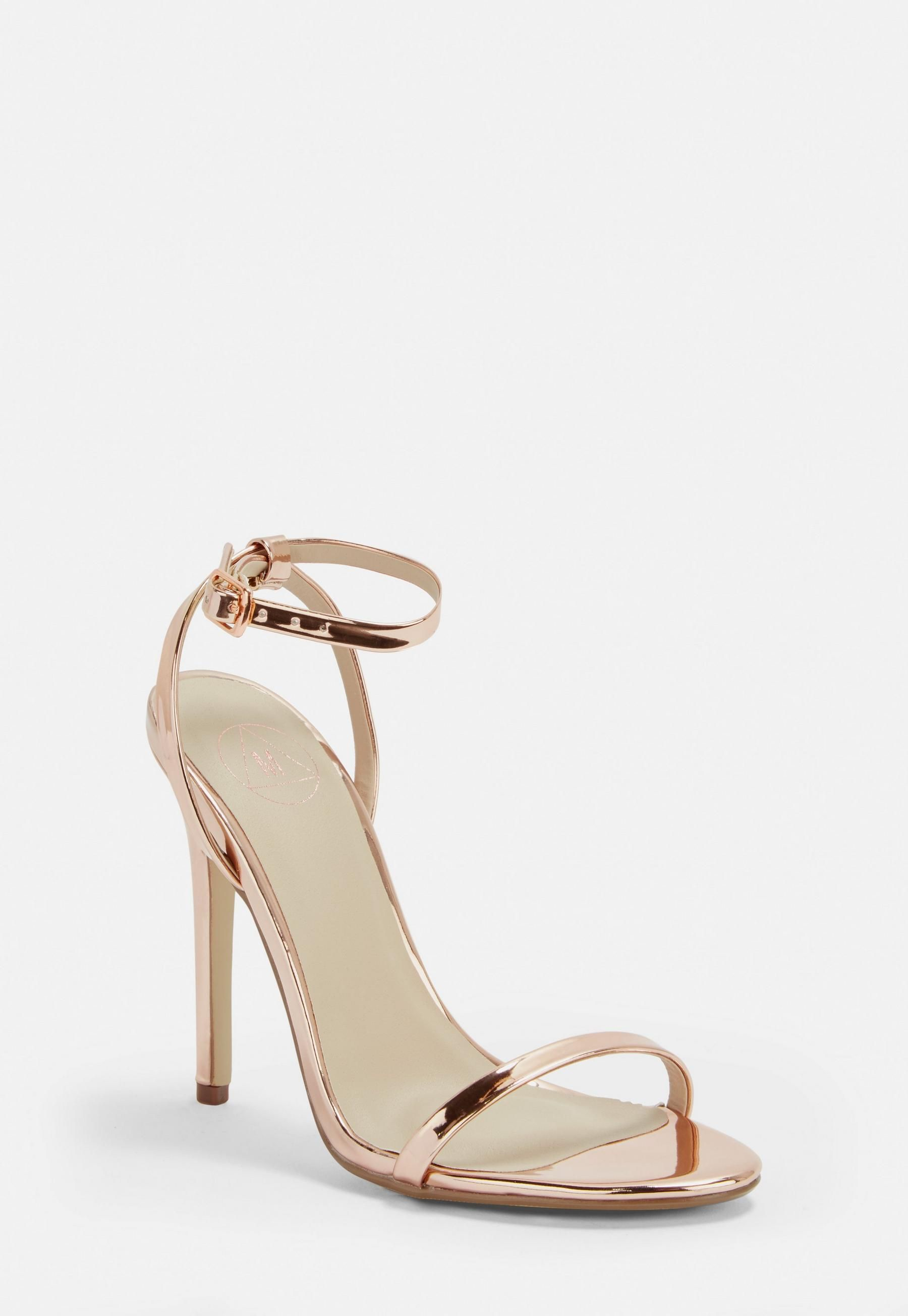 cb911493c3 Missguided Rose Gold Basic Barely There Heels in 2019 | Clothes and ...