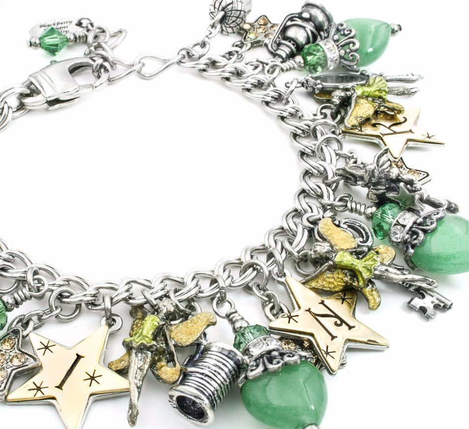 This Magical Tinkerbell Charm Bracelet Is Created With Heart Aventurine Stones