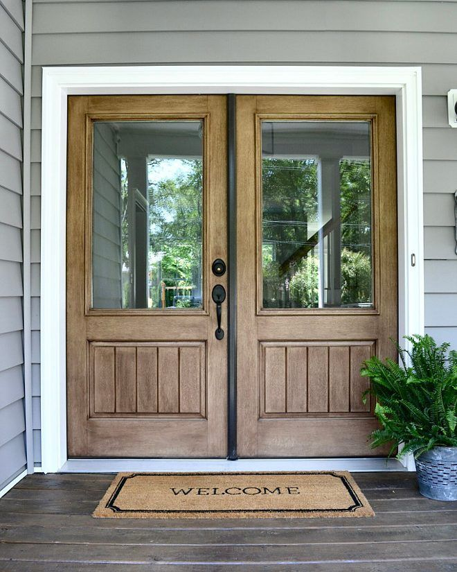 Beautiful Double Front Entry Doors with Transom