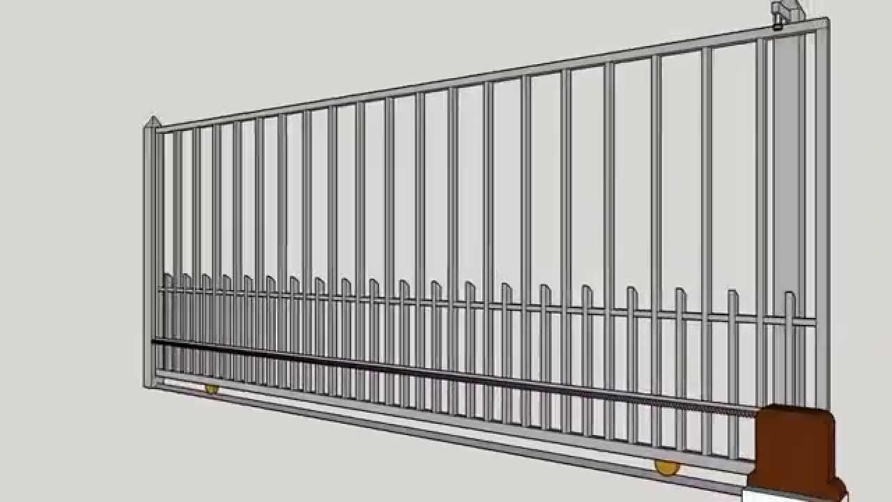 Porton electrico de corredera electric slide gate ideas for Motor porton electrico