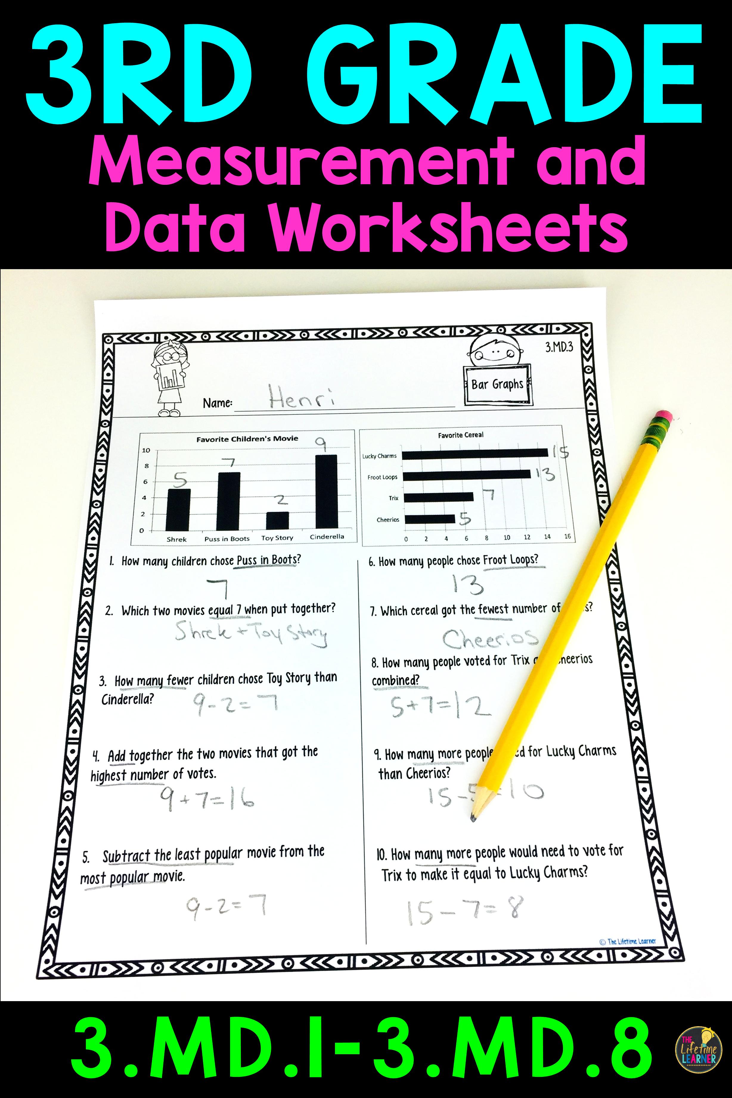 medium resolution of 3rd Grade Measurement and Data Worksheets   Measurement worksheets