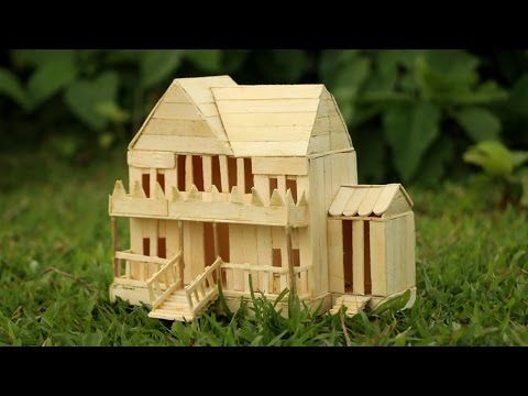 How To Make Popsicle Stick House Popsicle Garden Villa Diy Fairy