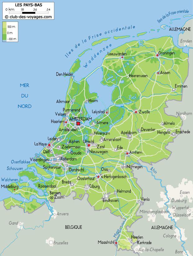 Carte Allemagne Et Hollande.Carte Des Pays Bas Cartes Des Pays Du Monde En 2019