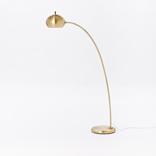 Living room floor lamp option petite arc metal floor lamp west elm 183