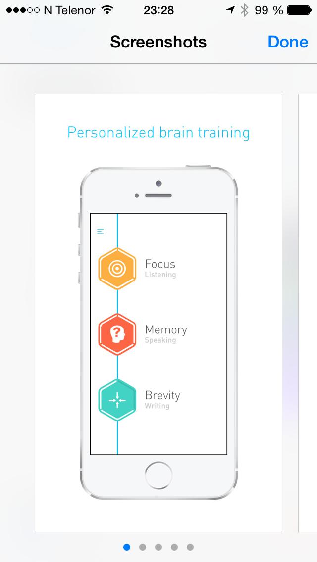 Elevate Brain training. https://itunes.apple.com/no/app/elevate-brain-training/id875063456?mt=8