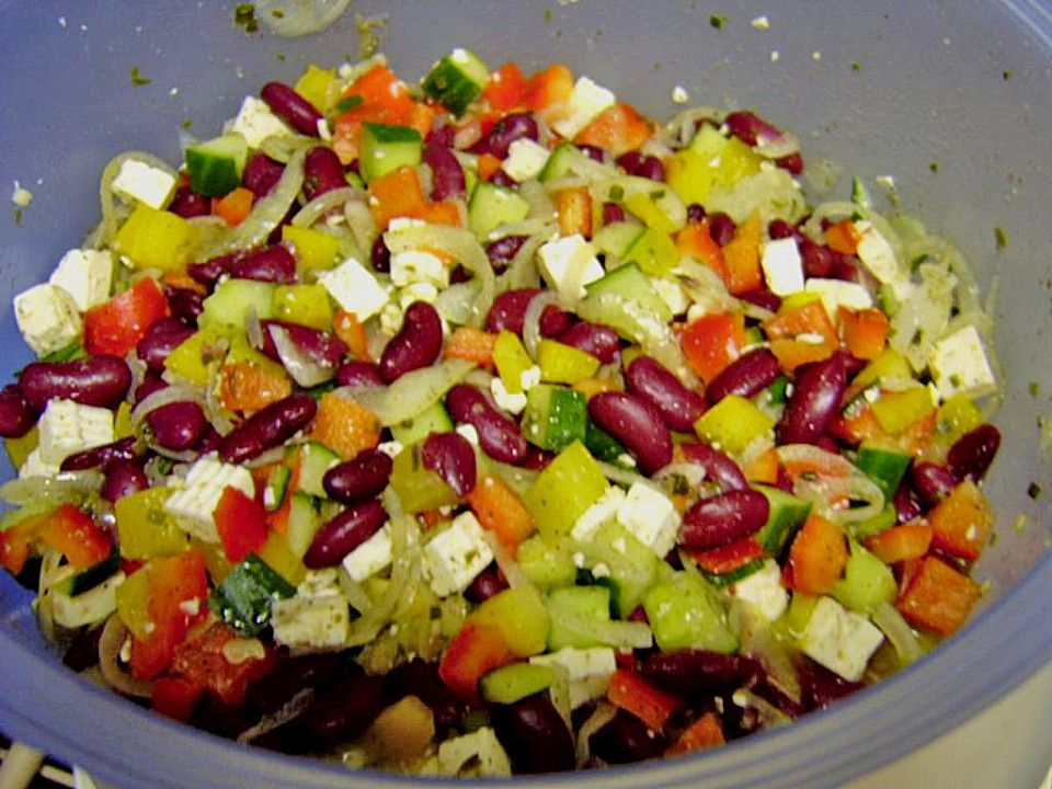 Simpler griechischer Salat für deutsche Grillparties von Willy_Wattwurm | Chefkoch