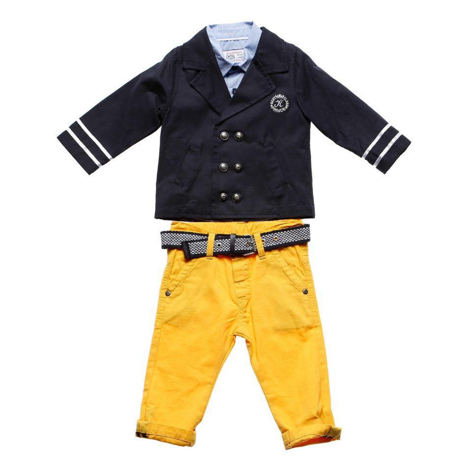 Kts baby, takım 9/18ay beden seçenekleri vardır. Gabardin kumaştır. Gömleği kısa koldur. Detaylı bilgi için www.Laresima.com✌️ #ktsbaby #laresima