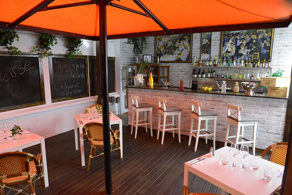 The French Bistrot West End West end, Patio umbrella, Patio