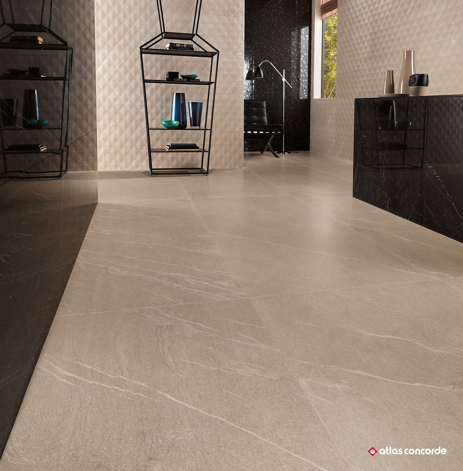 walls and floors inspired by stone with