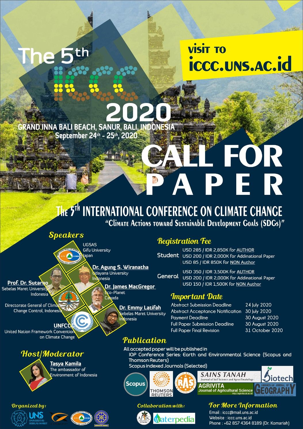 The 5th International Conference On Climate Change Iccc 2020 In 2020